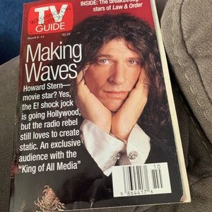 TV GUIDE MARCH 8th 1997,HOWARD STERN,MAKING WAVES
